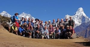 Group trek to Everest Gokyo Nepal raising money for charities (c) trekmountains