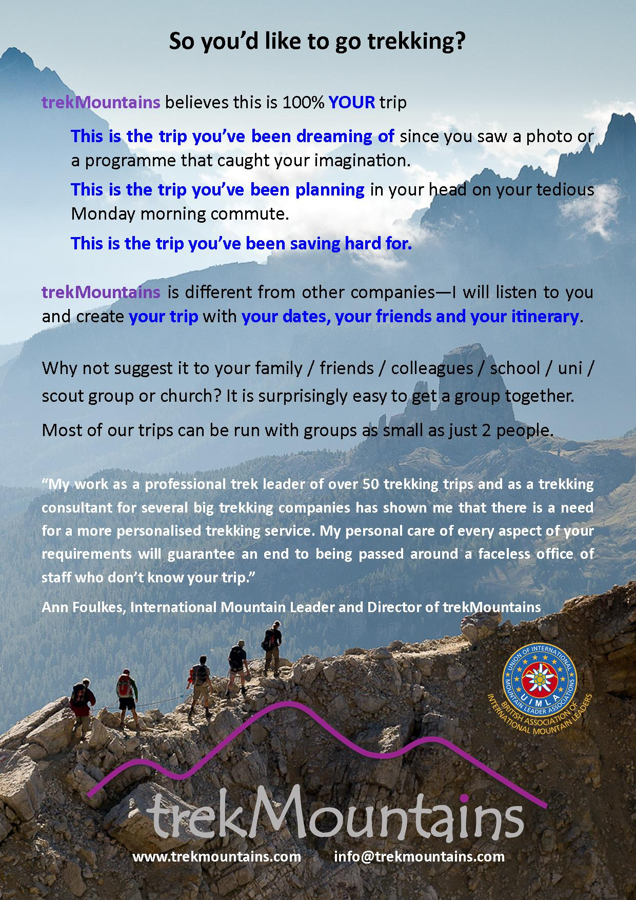 trekMountains our ethos