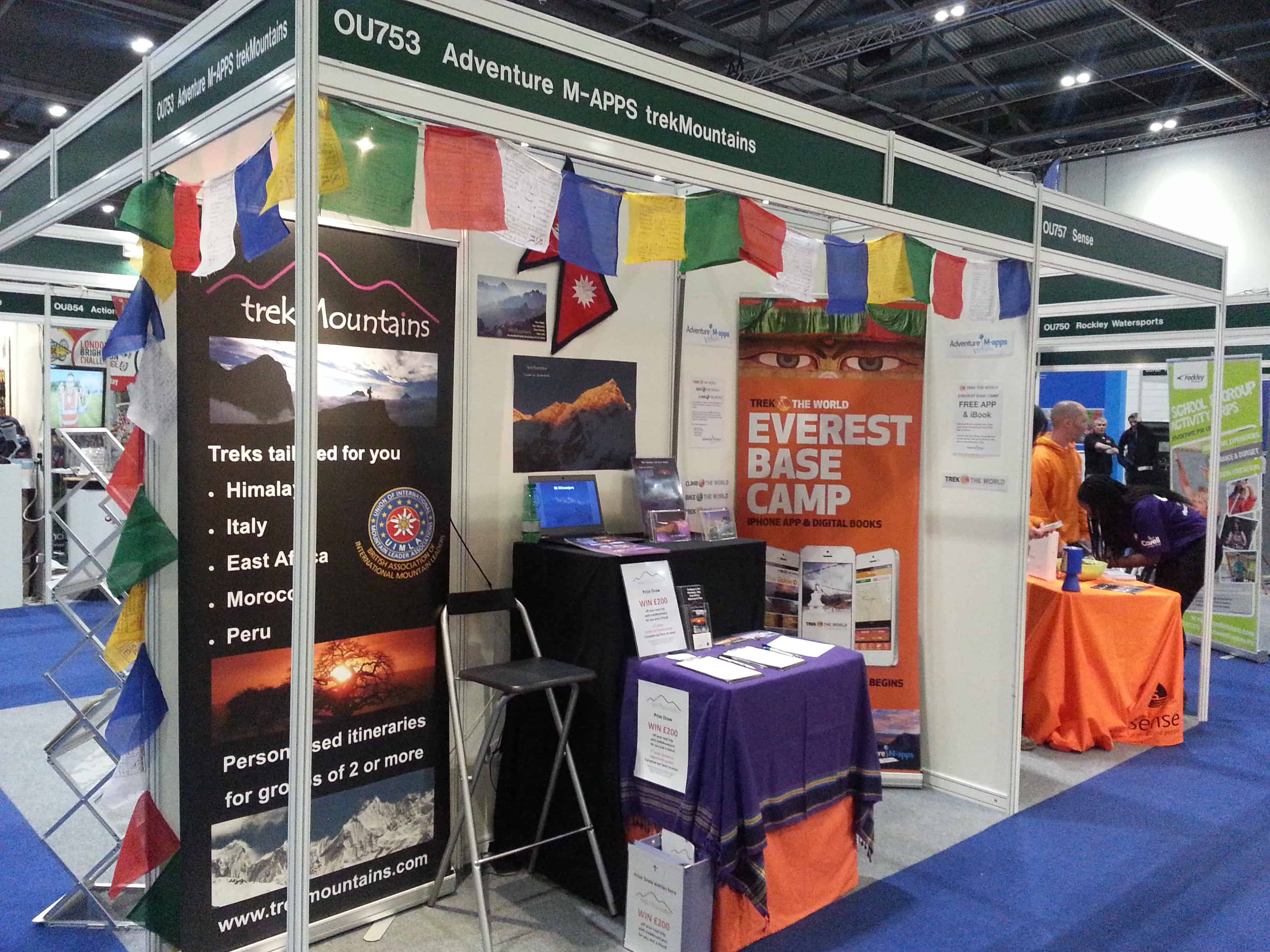 trekMountains at the Telegraph Outdoor Show